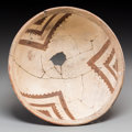 American Indian Art:Pottery, A Mimbres Black-On-White Bowl. c. 1000 - 1200 AD...