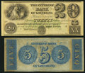 Obsoletes By State:Louisiana, New Orleans, LA- Citizens' Bank of Louisiana $5; $20 18__ Remainders. ... (Total: 2 notes)