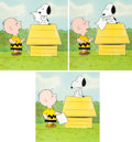 Animation Art:Production Cel, Charlie Brown and Snoopy Show Production Cel Setups andAnimation Drawing Sequence Group (Bill Melendez, 1983). ...