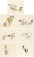 Animation Art:Concept Art, Retta Scott On the Trail Concept Art Group of 51 (WaltDisney, c. 1940s).... (Total: 52 Items)