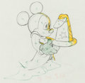 "Animation Art:Production Drawing, Fantasia Mickey Mouse ""Sorcerer's Apprentice"" AnimationDrawing (Walt Disney, 1940). ..."