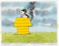 "Animation Art:Production Cel, Charlie Brown and Snoopy Show ""Flying Ace"" Production CelSetup and Master Painted Background (Bill Melendez, 1983)...."