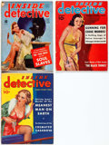 Pulps:Detective, Inside Detective Group of 3 (Inside Detective Publishing, 1937-41)Condition: Average GD.... (Total: 3 Items)