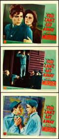 "Movie Posters:Crime, You Can't Get Away with Murder (Warner Brothers-First National,1939). Linen Finish Lobby Cards (3) (11"" X 14"").. ... (Total: 3Items)"