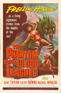 "Movie Posters:Science Fiction, The Phantom from 10,000 Leagues (American Releasing Corp., 1955).One Sheet (27"" X 41"") Albert Kallis Artwork.. ..."