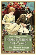 "Movie Posters:Romance, Twenty-One (First National, 1923). One Sheet (27"" X 41"").. ..."