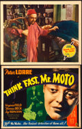 """Movie Posters:Mystery, Think Fast, Mr. Moto (20th Century Fox, 1937). Title Lobby Card(10.75"""" X 13.75"""" ) & Lobby Card (11"""" X 14"""").. ... (Total: 2Items)"""