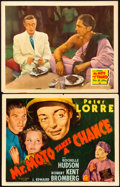 "Movie Posters:Mystery, Mr. Moto Takes a Chance (20th Century Fox, 1938). Title Lobby Card& Lobby Card (11"" X 14"").. ... (Total: 2 Items)"
