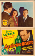 "Movie Posters:Mystery, Mysterious Mr. Moto (20th Century Fox, 1938). Title Lobby Card& Lobby Card (11"" X 14"").. ... (Total: 2 Items)"