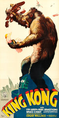 "Movie Posters:Horror, King Kong (S2 Art Group, 1997). Reproduction Three Sheet (41"" X84"").. ..."