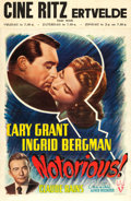 "Movie Posters:Hitchcock, Notorious (RKO, 1946). Belgian (14"" X 21.5"").. ..."