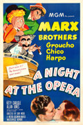 "Movie Posters:Comedy, A Night at the Opera (MGM, R-1948). One Sheet (27"" X 41"") AlHirschfeld Artwork.. ..."