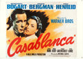 "Movie Posters:Academy Award Winners, Casablanca (SAC, 1979). Commercial Horizontal Italian 2 - Fogli(39"" X 55"").. ..."