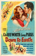 "Movie Posters:Musical, Down to Earth (Columbia, 1947). One Sheet (27"" X 41"") Style B.. ..."