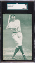 Baseball Cards:Singles (Pre-1930), 1927 Exhibits Babe Ruth SGC 60 EX 5 - None Higher....