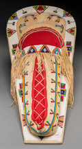 American Indian Art:Beadwork and Quillwork, A Contemporary Ute Beaded Hide Cradleboard. ...