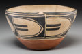 American Indian Art:Pottery, A Santo Domingo Polychrome Food Bowl...