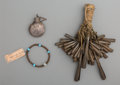 American Indian Art:Jewelry and Silverwork, Three Southwest Objects... (Total: 3 Items)