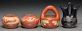 American Indian Art:Pottery, Four Miniature Santa Clara Jars... (Total: 4 Items)