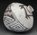 American Indian Art:Pottery, A Socorro Black-On-White Storage Jar. c. 1100 - 1250 AD...