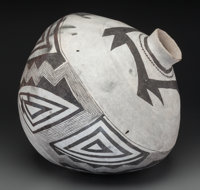 A Socorro Black-On-White Storage Jar c. 1100 - 1250 AD