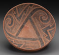 American Indian Art:Pottery, A St. John Black-On-Red Bowl. ...
