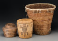 American Indian Art:Baskets, Three Southwest Basketry Items... (Total: 3 )