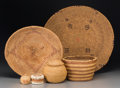 American Indian Art:Baskets, Six Ethnographic Baskets... (Total: 6 Items)