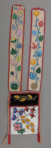 American Indian Art:Beadwork and Quillwork, A Chippewa Beaded Cloth Bandolier Bag. c. 1890...