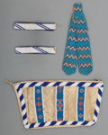 American Indian Art:Beadwork and Quillwork, Three Plains / Plateau Beaded Hide Items. c. 1890 - 1900... (Total: 4 Items)