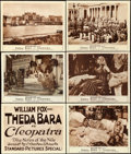 "Movie Posters:Drama, Cleopatra (Fox, 1917). Title Lobby Card & Lobby Cards (5) (11"" X 14"").. ... (Total: 6 Items)"