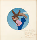 Animation Art:Production Cel, Song of the South Br'er Rabbit Production Cel CourvoisierSetup with Walt Disney Signature (Walt Disney, 1946)....
