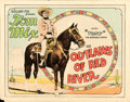 "Movie Posters:Western, Outlaws of Red River (Fox, 1927). Half Sheet (22"" X 28"").. ..."