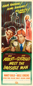 "Movie Posters:Comedy, Abbott and Costello Meet the Invisible Man (UniversalInternational, 1951). Insert (14"" X 36"").. ..."