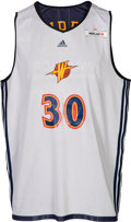 Basketball Collectibles:Uniforms, 2009 Stephen Curry NBA Summer League Opening Game Worn Golden StateWarriors Jersey--Photo Matched!. ...