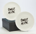 Post-War & Contemporary:Contemporary, Baron Von Fancy X The Prospect NY. Sweet as Pie (fourplates), 2017. Fine bone china. Each is signed, dated, andins... (Total: 4 Items)