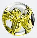 Post-War & Contemporary:Contemporary, Jeff Koons (b. 1954). Balloon Dog (Yellow), 2015. Porcelainsculpture painted in chrome. 10-1/2 inches (26.7 cm) (diamet...