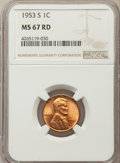 Lincoln Cents: , 1953-S 1C MS67 Red NGC. NGC Census: (362/0). PCGS Population: (170/0). Mintage 181,835,008. ...