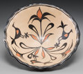 American Indian Art:Pottery, A Santo Domingo Polychrome Bowl. c. 1910...