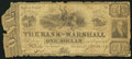 Obsoletes By State:Michigan, Marshall, MI- Bank of Marshall $1 Oct. 24, 1837. ...
