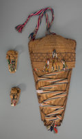 American Indian Art:Baskets, Three Paiute Twined Baby Carriers. c. 1900... (Total: 3 Items)