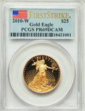 Modern Bullion Coins, 2010-W $25 Half-Ounce Gold Eagle, First Strike PR69 Deep Cameo PCGS. PCGS Population: (423/335). NGC Census: (272/1549). ...