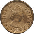 Hong Kong:British Colony, Hong Kong: British Colony. Elizabeth II 5 Cents 1964-H XF Details (Surface Hairlines) NGC,...