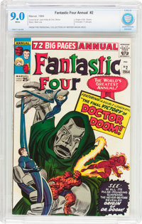Fantastic Four Annual #2 (Marvel, 1964) CBCS VF/NM 9.0 White pages