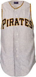 Baseball Collectibles:Uniforms, 1960 Roberto Clemente Game Worn Pittsburgh Pirates Jersey....