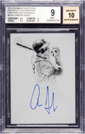 Baseball Cards:Singles (1970-Now), 2014 Bowman Inception Aaron Judge Black Printing Plate ProspectAutographs #PAAJ BGS Mint 9, 10 Autograph - 1 of 1. ...