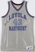 Basketball Collectibles:Others, 1990's Ross Richardson Signed Game Worn Loyola Marymount Jersey....