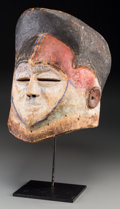 Tribal Art, Kwese People, Democratic Republic of Congo: A Rare Helmet Mask,Related to the Suku and Mbala...