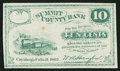 Obsoletes By State:Ohio, Cuyahoga Falls, OH- W.A. Hanford at Summit County Bank 10¢ 1862Remainder. ...