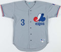 Baseball Collectibles:Uniforms, Jose Vidro Signed Montreal Expos Jersey....